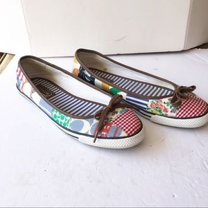 Coach patchwork Marie slip on ballet style sneaker